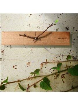 Amazing Creative Design Bud Wood Wall Clock