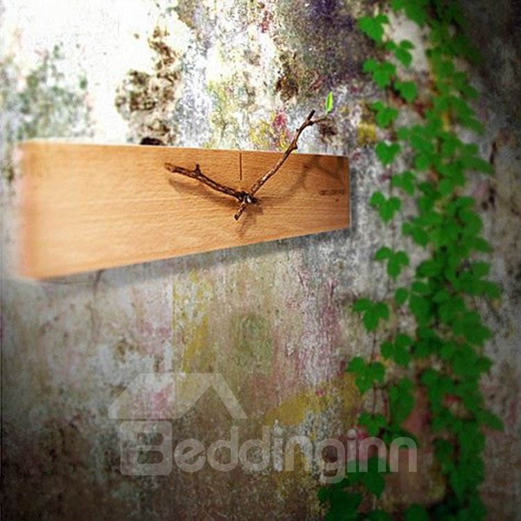 Amazing Creative Design Bud Wood Wall Clock