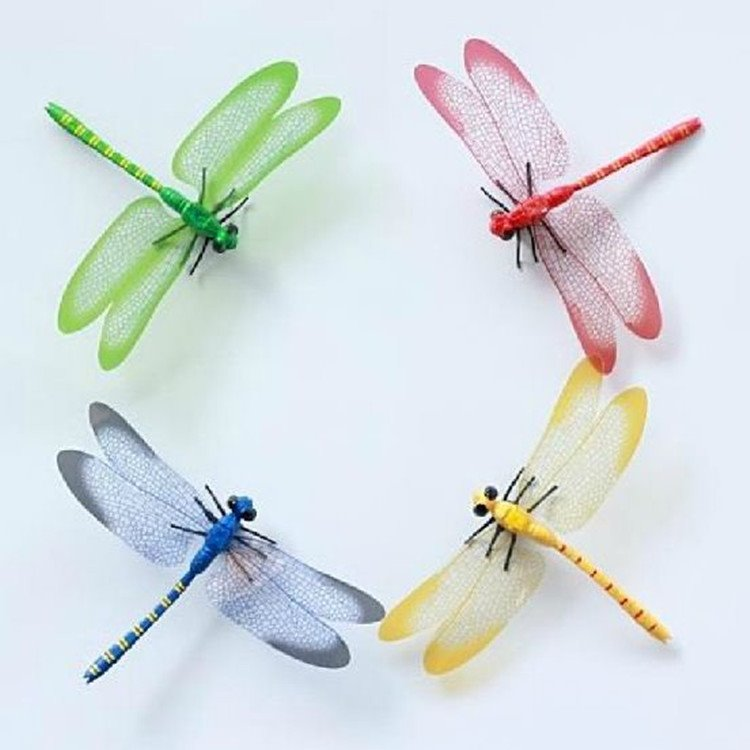 Beautiful Dragonflies Shape 4-piece Decorative Wall Stickers