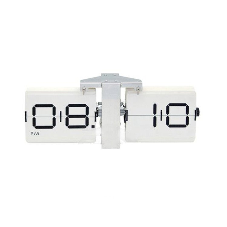 Classic Retro Scale-shaped Automatic Flip Table Clock