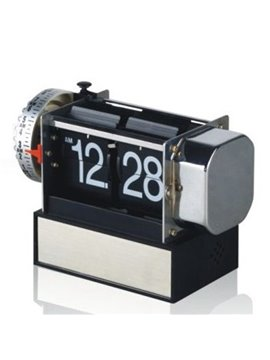 Retro Cute Gear Small Flip Alarm Table Clock