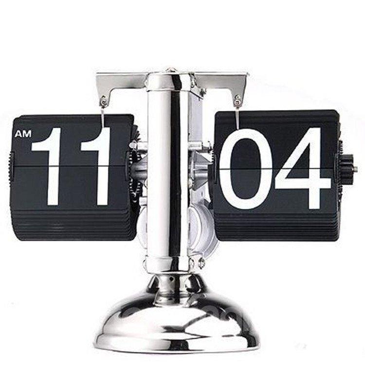 Creative Classic Retro Scale-shaped Flip Table Clock