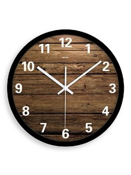 Elegant Simple Style Wood Grain Wall Clock