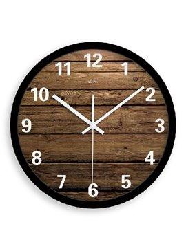 Elegant Simple Style Wood Grain Wall Clock