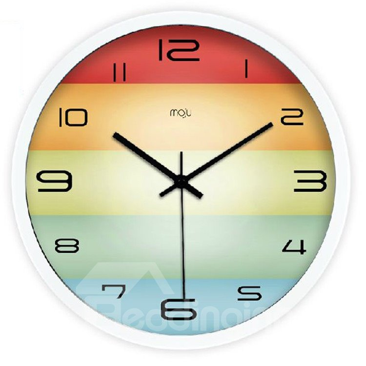 New Arrival Fashionable Simple Style Colorful Wall Clock