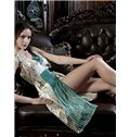High Quality Retro Charming and V-neckline Silk Loungewear