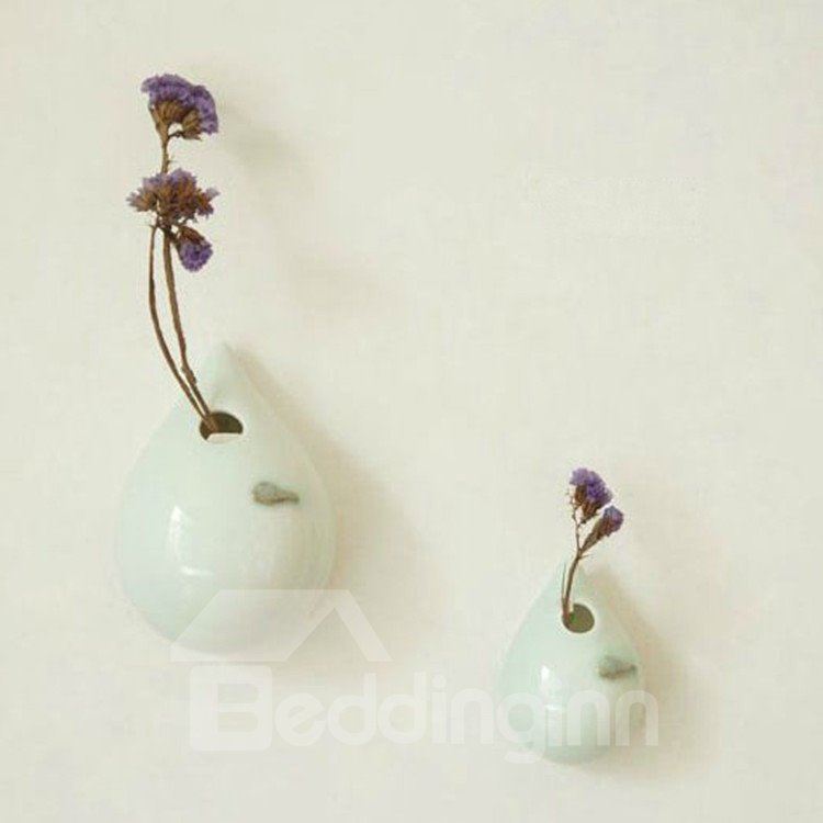 Creative Simple Style Elegant Big and Small Drop Design Vase