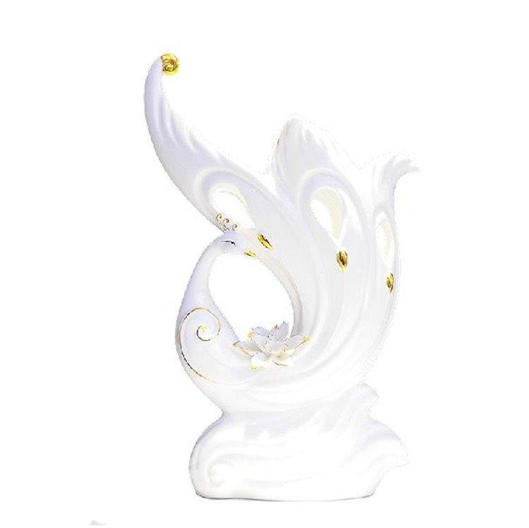 Alluring Modern Style Peacock Ceramic Vase Ornament
