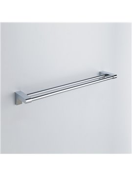 Chrome Finish Contemporary Style Stainless Steel Double Towel Bars