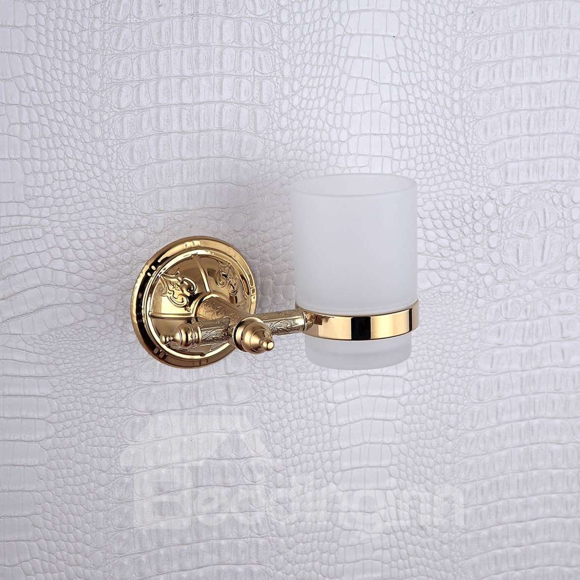 Ti-PVD Wall Mount Golden Tumbler Holder