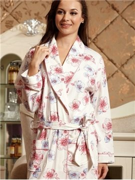 New Arrival Fancy Blooming Flowers Print Cotton Loungewear