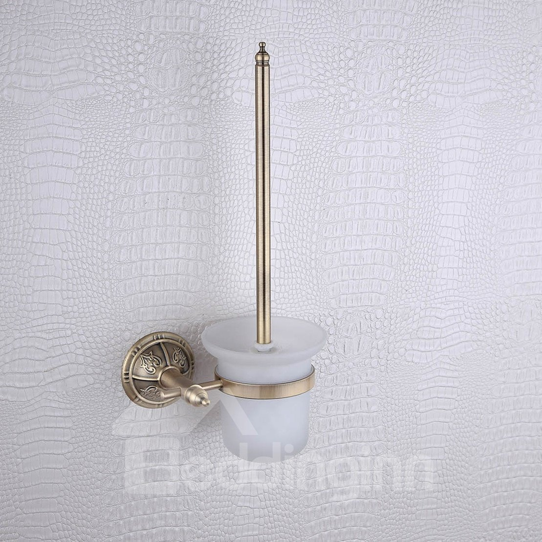 Rack Brass Venetian Bronze Toilet Brush Holder
