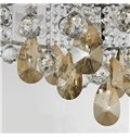 Elegant Round Shape Floral Crystal 8 Lights Flush Mount