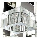 Elegant Square Shape Cryatal 12 Lights Flush Mount