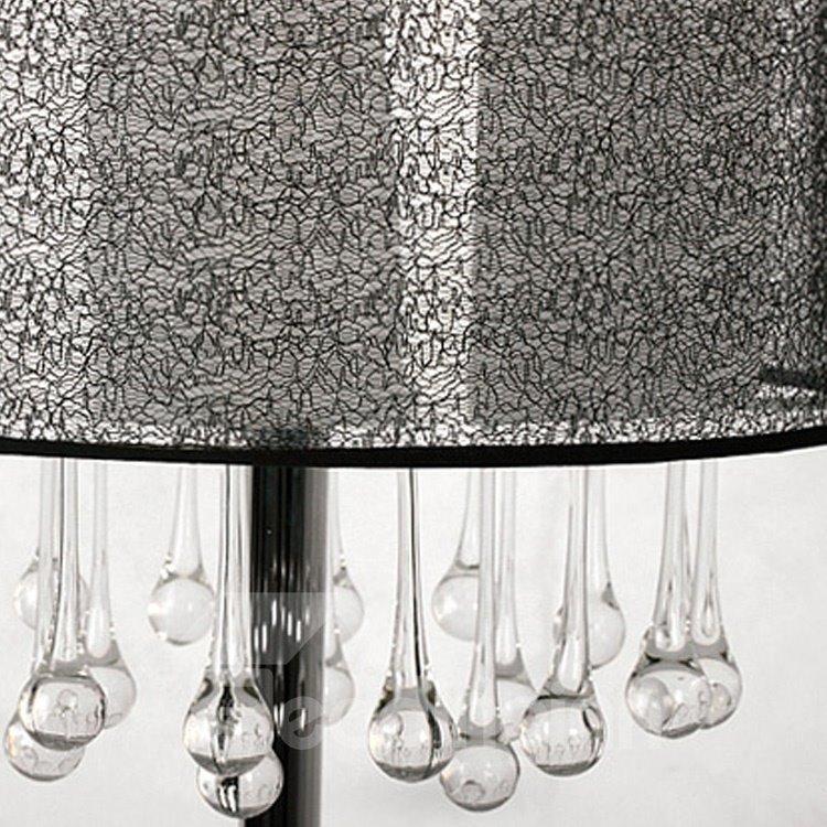 Elegant Glass Water Drops Fabric Shade Lamp