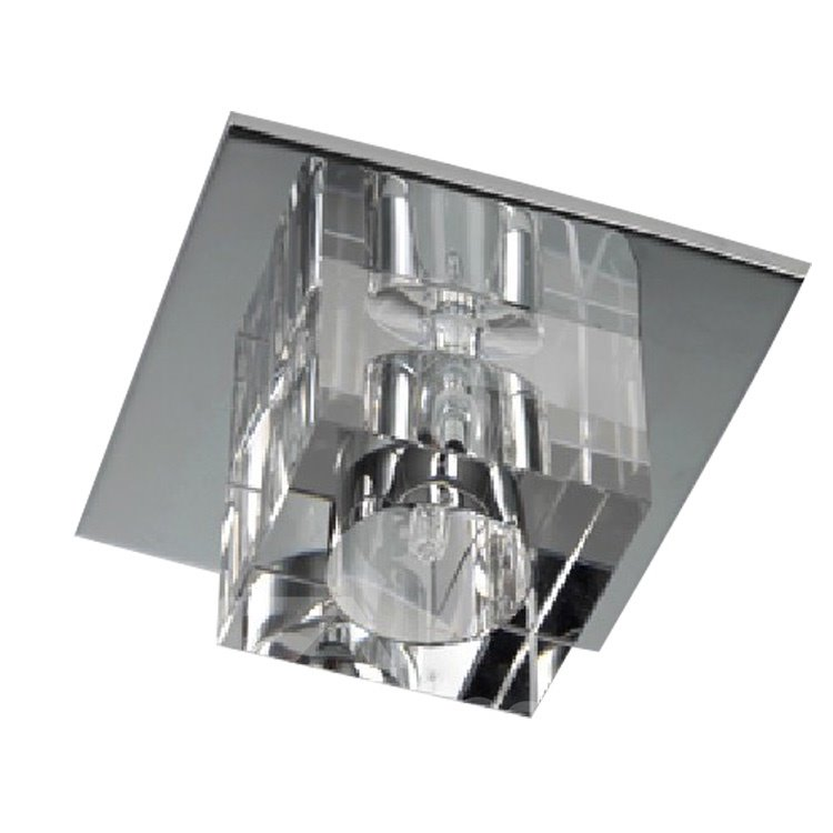 Simple Style Crystal 1 Light Flush Mount