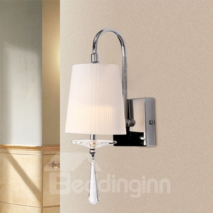 Elegant Simple Style Fabric Shade Wall Light