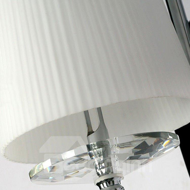 Elegant Simple Style Fabric Shade Wall Light