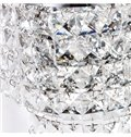 Elegant Unique Style Electroplated Finish Crystal Wall Light