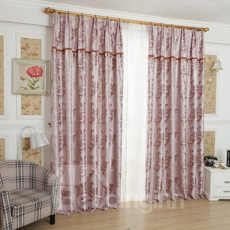 Amazing Pink Beautiful Patterns Design Grommet Top Custom Curtain