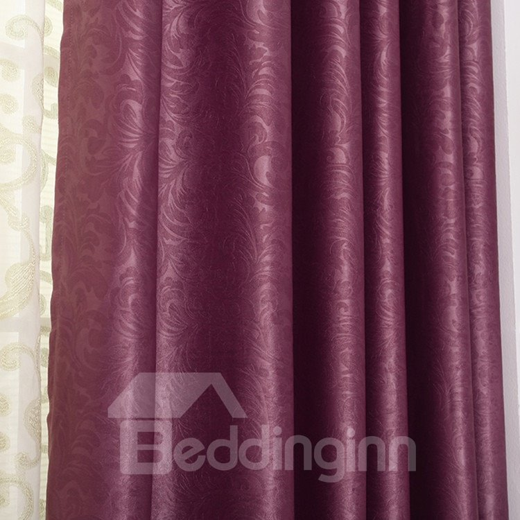 High Quality Elegant Burgundy Grommet Top Custom Curtain