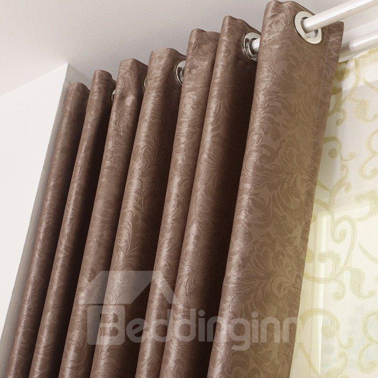 High Quality Elegant Coffee Grommet Top Custom Curtain