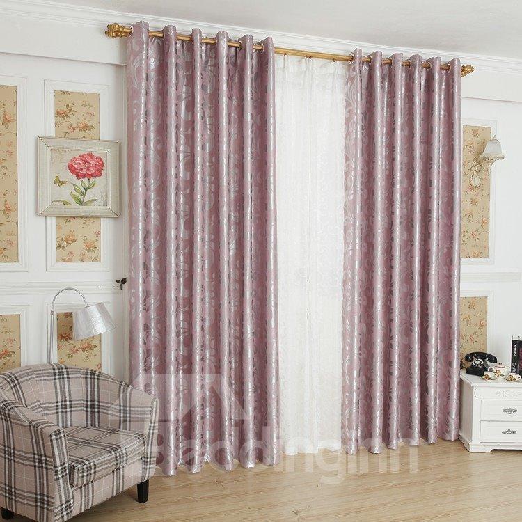 Elegant Luxurious Beautiful Patterns Grommet Top Custom Curtain