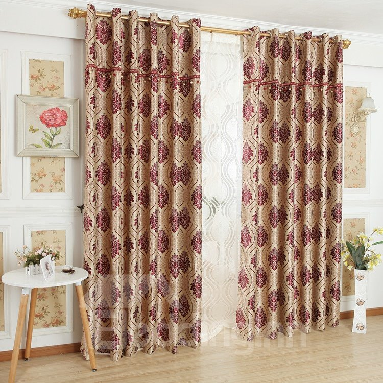 Fantastic Contemporary Elegant Patterns Grommet Top Custom Curtain