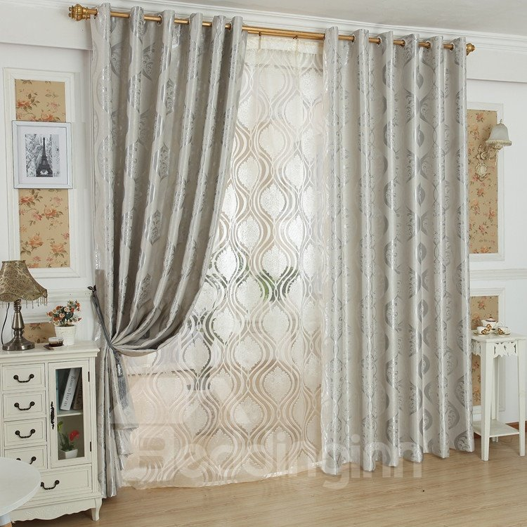 Fabulous Contemporary Charming Pattern Grommet Top Custom Curtain