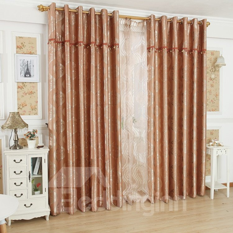 Glamorous Contemporary Beautiful Pattern Grommet Top Custom Curtain