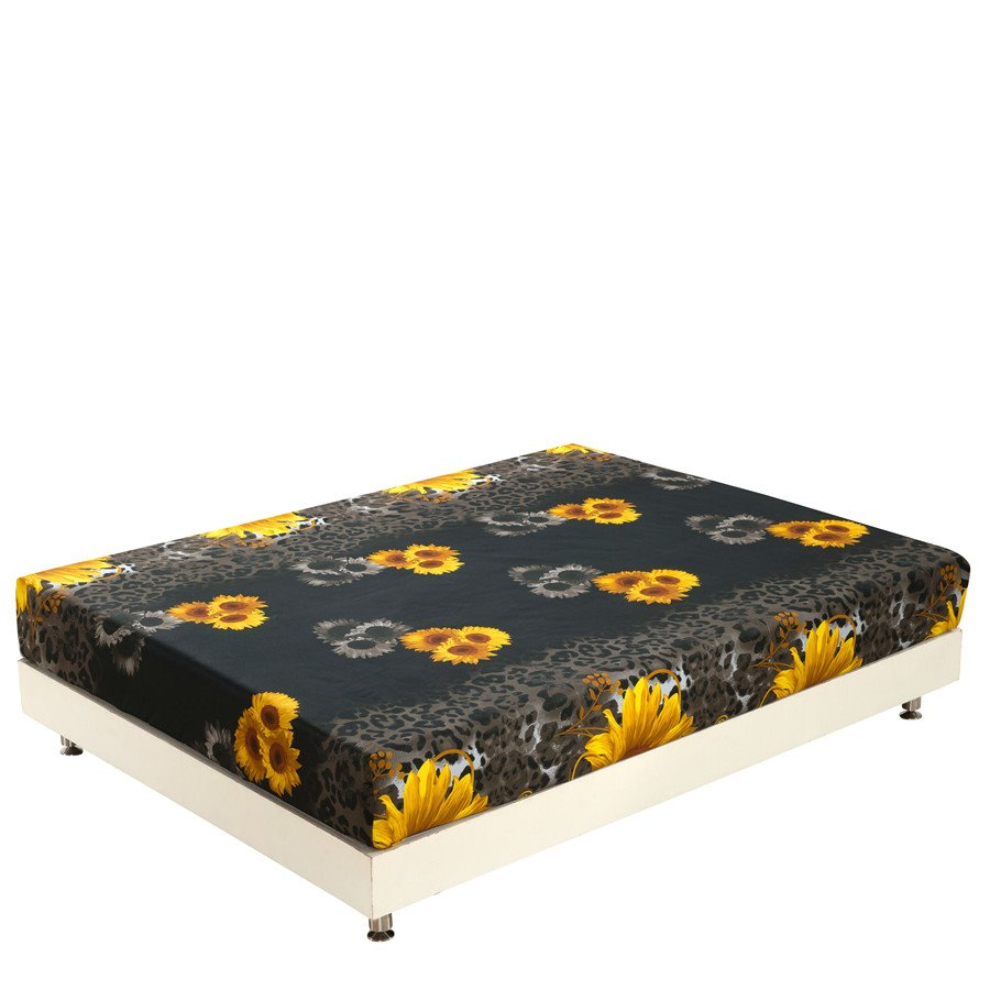 Amazing Yellow Sunflowers Print 3D Fitted Sheet