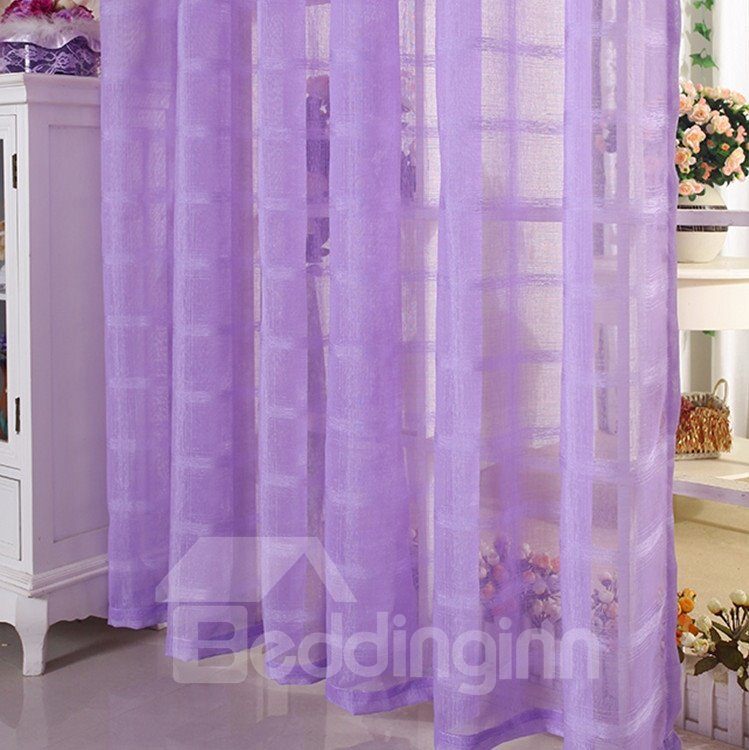 Elegant Contemporary Light Purple Custom Sheer Curtain