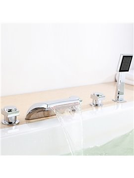 Color Changing LED Hydropower Waterfall Bathtub Faucet