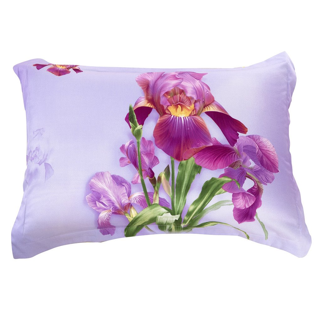 Amazing Light Purple Flowers Two Pieces Pillow Case