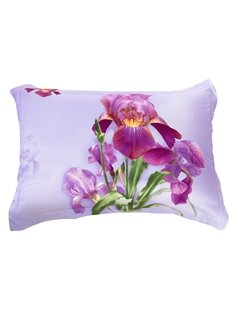 New Arrival Amazing Purple Flowers Two Pieces Pillow Case