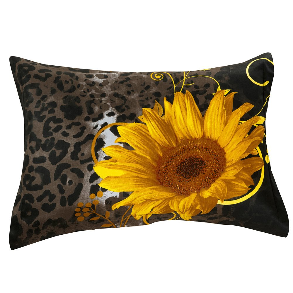 New Arrival Gracious Lovely Sunflowers Two Pieces Pillow Case
