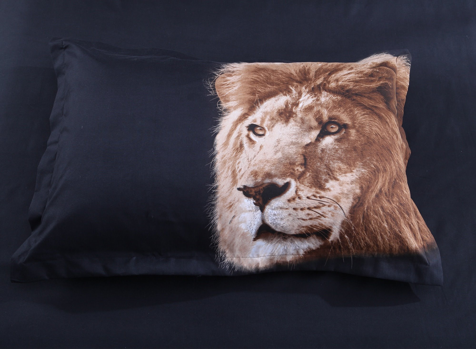 Golden Lion Head 3D Printed Polyester 4-Piece Bedding Sets