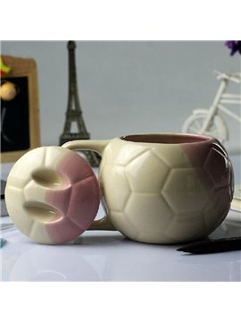 Elegant Creative Football Design Ceramic Mug