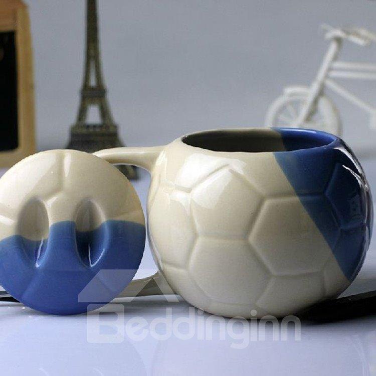 Elegant Creative Football Design Ceramic Mug