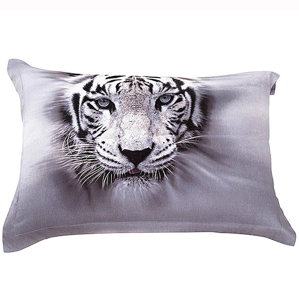 Head of Tiger Pattern 2-Pieces Pillowcases
