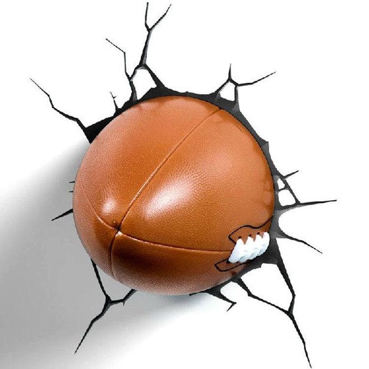 Stunning Creative 3D Rugby Football Design Wall Light
