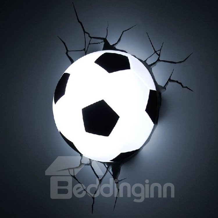 Amazing Creative 3D Football Design Wall Light