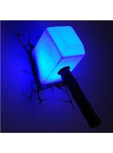 Amazing Creative 3D Sledge Hammer Shape Wall Light