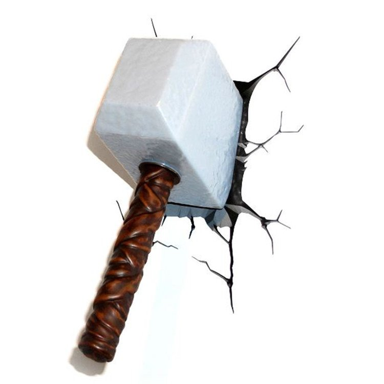 Amazing Creative 3D Sledge Hammer Shape Wall Light