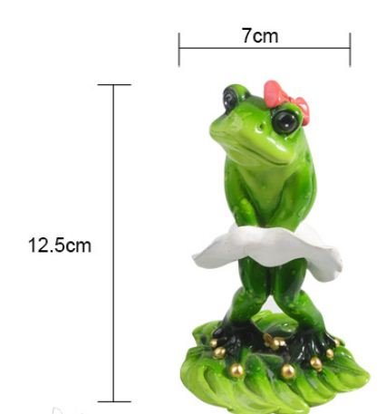 Eye-catching Funny Creative Cartoon Frog in a White Dress Ornament