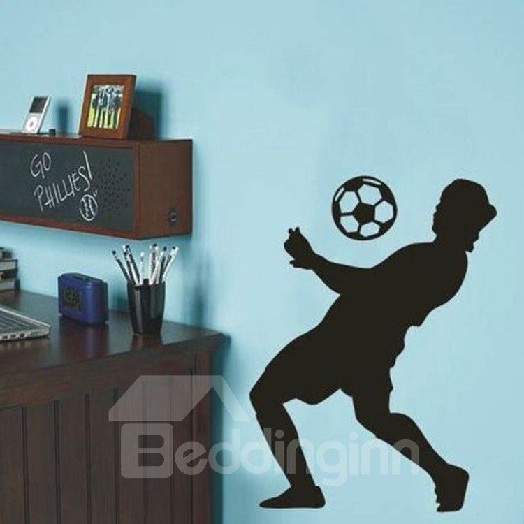 New Arrival Elegant 3D Sporter Playing Football Wall Stickers