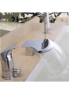 Contemporary Design Waterfall Wall-mounted Bathroom Tub Faucet