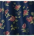 High Quality Elegant Dark Blue Floral Grommet Top Custom Curtain