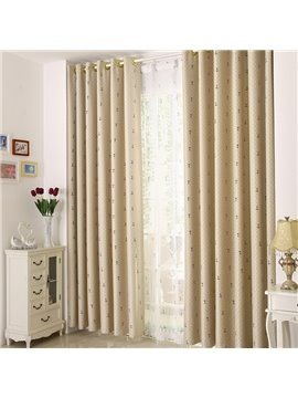 Contemporary Elegant Beautiful Patterns Grommet Top Custom Curtain