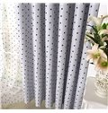 Contemporary Elegant Beautiful Blue Stars Grommet Top Custom Curtain